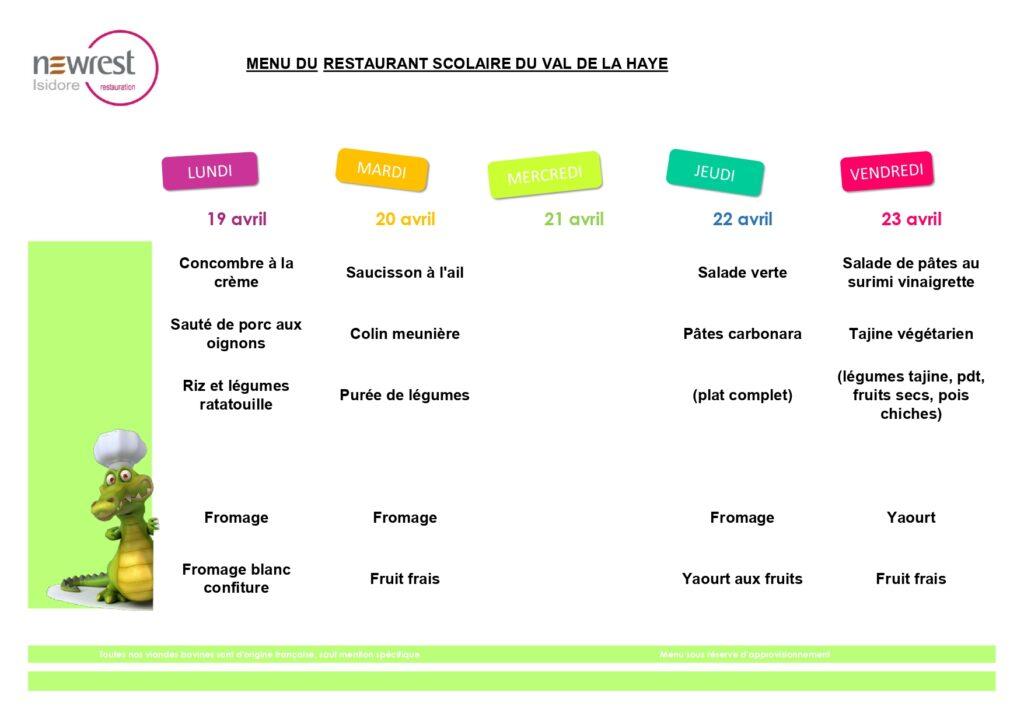 menu scolaire avril 3